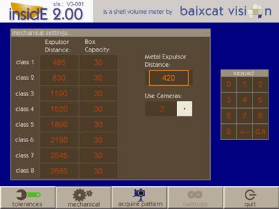 pantalla ajustes mecánicos software inside