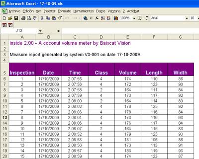 Informes Excel software inside