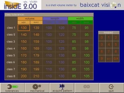 pantalla tolerancias software inside